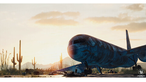 Abandoned Flight - UE4 Scene