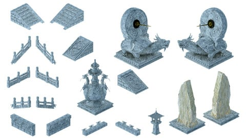 Ancient Chinese architecture - accessories 043
