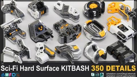 Sci-Fi Hard Surface KITBASH 350 DETAILS