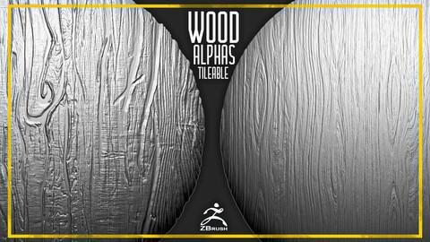 20 Wood Tileable Alphas Vol.4 (ZBrush, Substance)
