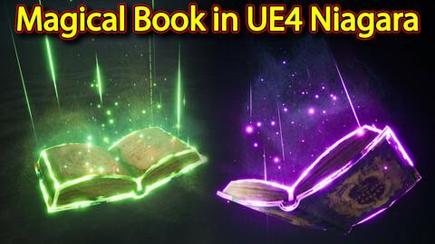 Magical Book Effect in UE4.26 Niagara