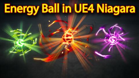 Energy Ball Effect in UE4.26 Niagara