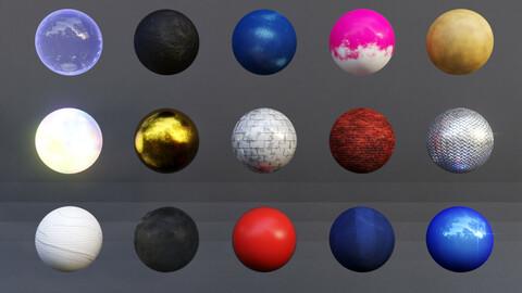 Amazing 25+ Procedural Blender Material Pack