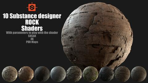 10 Substance designer rock shaders