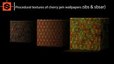 Procedural textures of bloody wallpaper