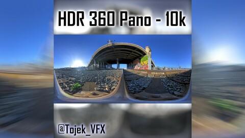 HDR 360 Panorama 1st Street Viaduct DTLA 25 tracks