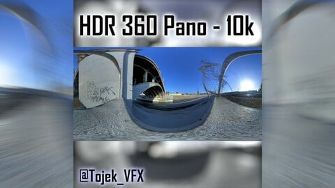 HDR 360 Panorama 1st Street Viaduct DTLA 49 side of river