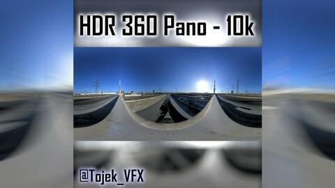 HDR 360 Panorama 1st Street Viaduct DTLA 65 bridge top