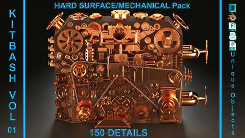 Hard Surface/Mechanical KITBASH 150 DETAILS