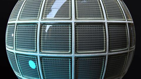PBR - GLASS BRICK WALL, GLASS BRICK BLOCK - 4K MATERIAL