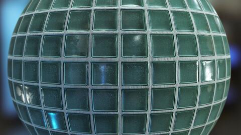 PBR - GLASS BRICK WALL, DIRTY GLASS BRICK BLOCK - 4K MATERIAL