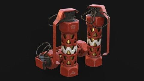 Stun Grenade Red