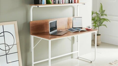 Of Minette 1200 Shelf Desk Table