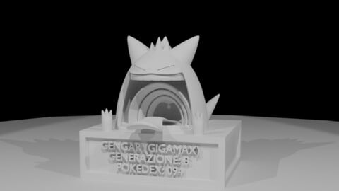 Gengar Gigamax 3D model for animation or 3D print