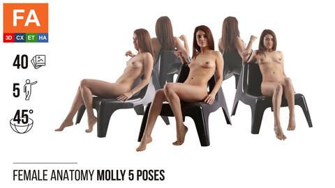 Female Anatomy | Molly 5 Sitting Poses | 40 Photos
