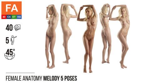 Female Anatomy | Melody 5 Various Poses | 40 Photos