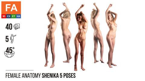 Female Anatomy | Shenika 5 Various Poses | 40 Photos