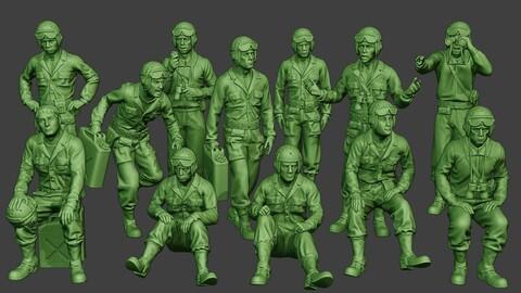 American Tank Crew ww2 ATC1 Pack1
