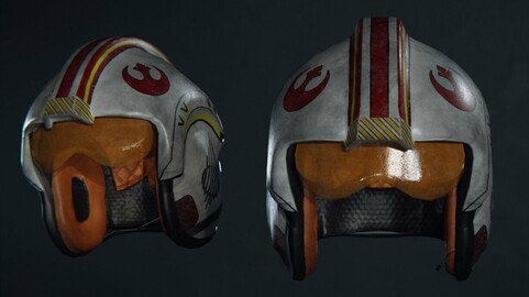 X-wing rebel pilot helmet from Star Wars