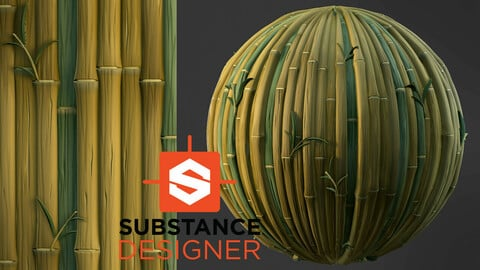 Stylized Bamboo - Substance Designer