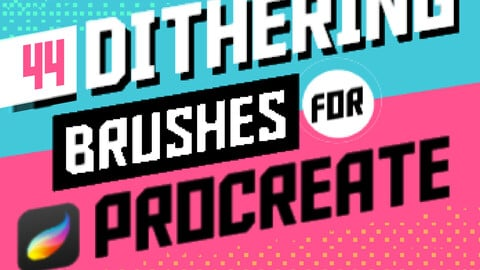 44 Retro Dithering + Pixel Art Brushes for Procreate