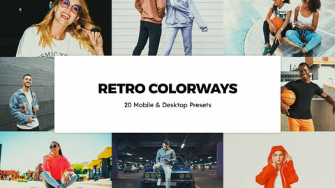 20 Retro Colorways LUTs and Lightroom Presets