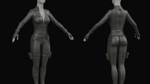 Black Widow Costume 3D
