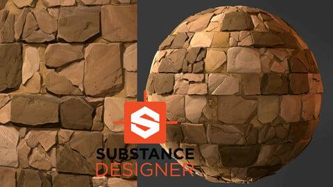 Stylized Bricks - Substance Designer