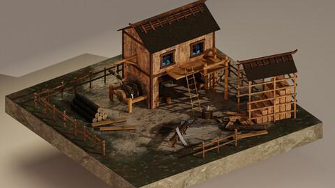 Sawmill Level 15 3D Model