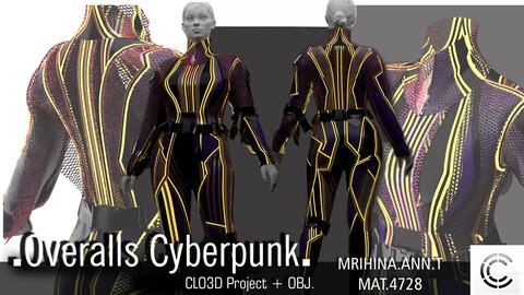 .Overalls Cyberpunk. Clo3d, Marvelous Designer.