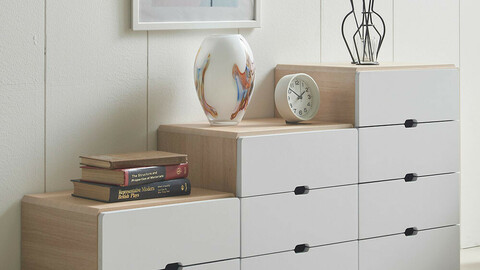Netty 3-tier mini drawer side table 5colors