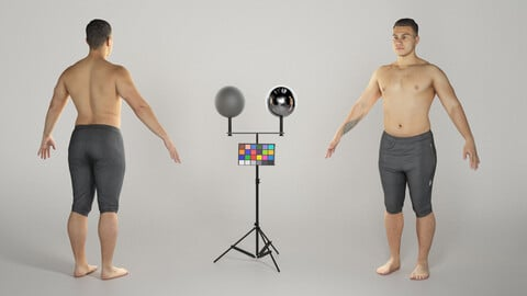 Shirtless athletic man in A-pose 310