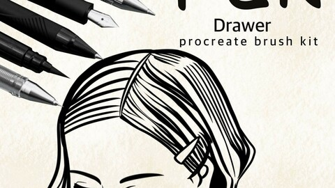 Pen Procreate brush set