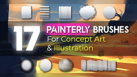 Painterly Brushes for Concept art and Illustration - Easy to use
