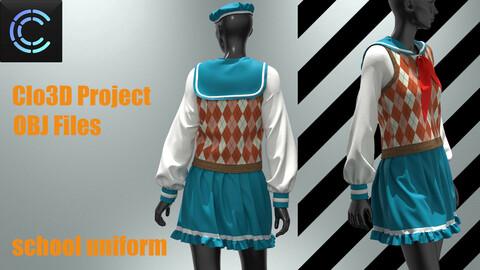School uniform for girls (korea, japan)