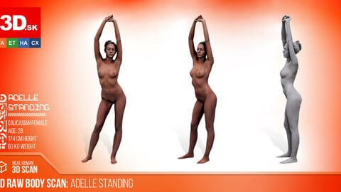 Cleaned 3D Body scan of Adelle Standing