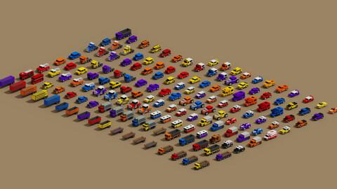 Voxel cars Assets