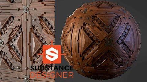 Stylized Wood Pattern - Substance Designer