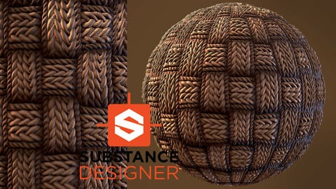 Stylized Fabric Material - Substance Designer