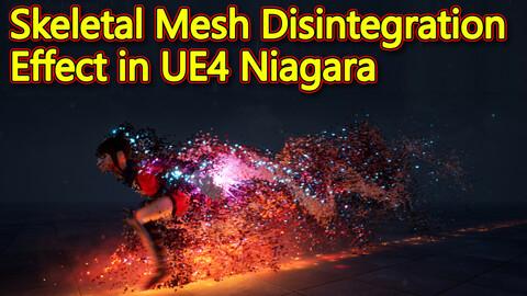 Skeletal Mesh Disintegration Effect in UE4.26 Niagara