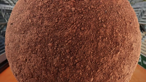 PBR - CLAY COURT, BRICK DUST, SOIL, GROUND - 4K MATERIAL