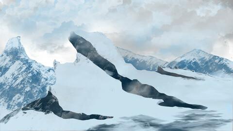 Snow Mountain Artwork