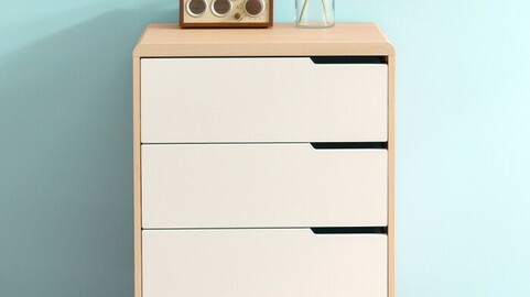 Hannover 600 3-tier chest of drawers 5colors