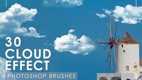Cloudy effect photoshop brush