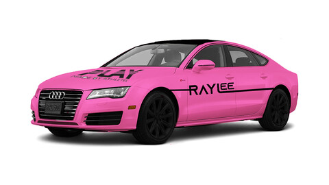 car illustration pinky