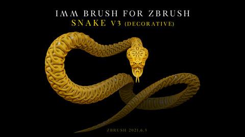 IMM Brush «Snake» V3 for Zbrush