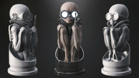 Baby Bullet (Giger and Alien Tribute) 3d print