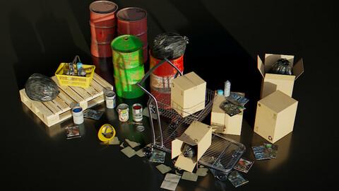 KitBash 3D Shopping Elements