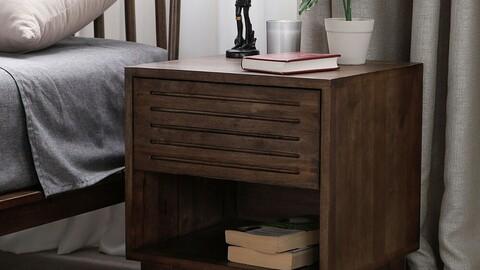 J-Soo Bed Wood Side Table