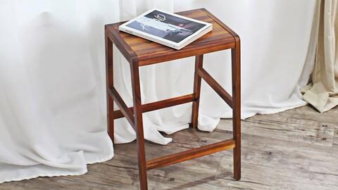François solid wood bar stool